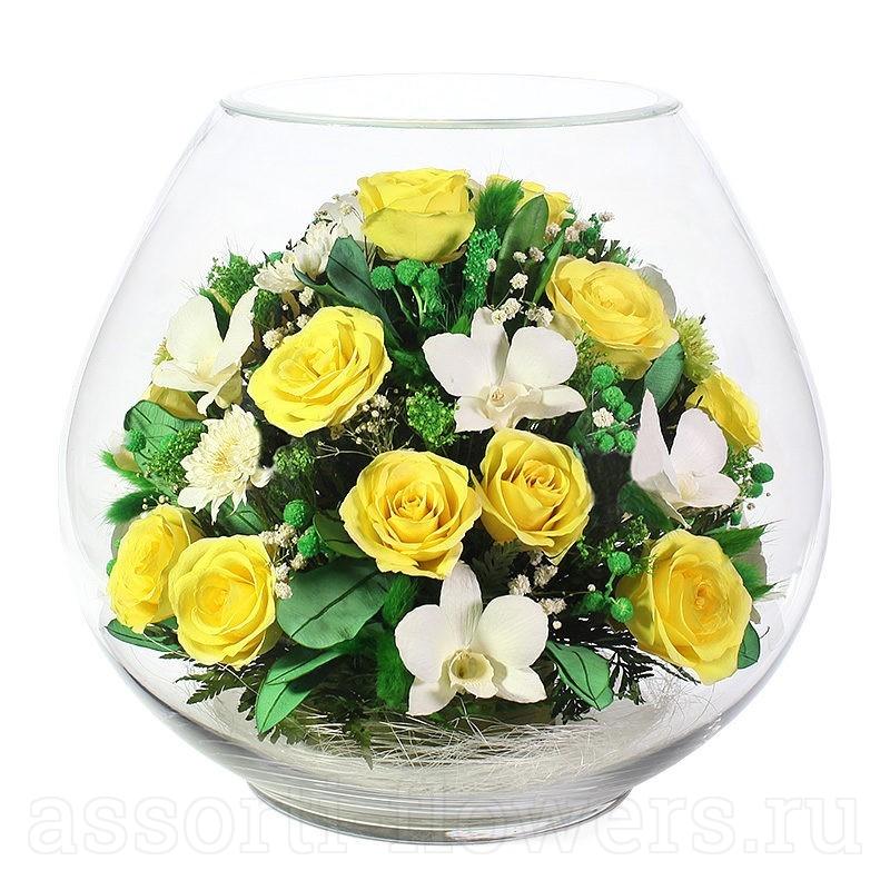 Букеты из живых цветов в