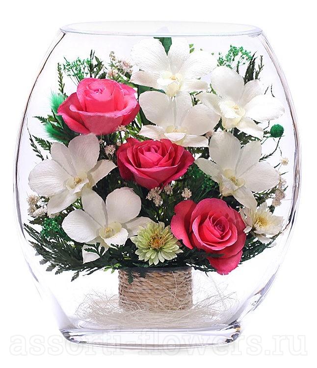 Композиции из роз в подарок